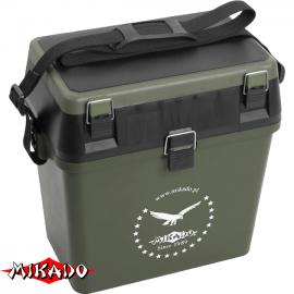 """Арт.UABM-317 Ящик рыболова """"Mikado"""" для зимней рыбалки (пластик)"""