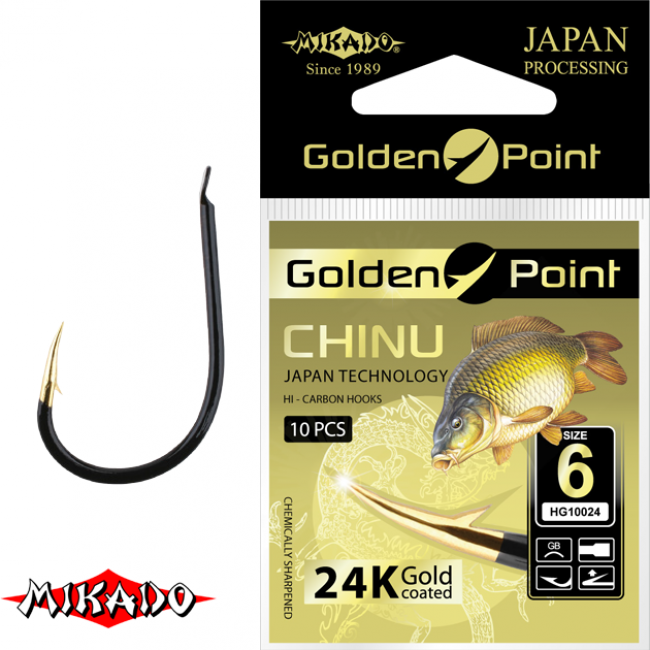 "*Крючки "" Mikado - GOLDEN POINT - CHINU "" (фас.=10уп.)"