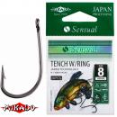 """*Крючки """" Mikado - SENSUAL - TENCH W/RING"""" (с ушком) (фас.=10уп.)"""